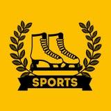 Skates sport emblem icon Stock Photography
