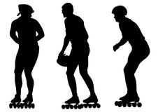 Skates three mans Royalty Free Stock Images