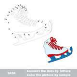 Skates to be traced. Vector letters game. vector illustration