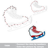 Skates to be traced. Vector numbers game. Royalty Free Stock Photos
