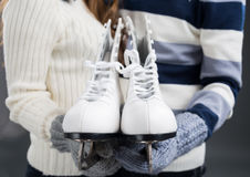 Skates for two stock photography