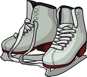 Skates. Vector illustration of the figure skates isolated on white background Royalty Free Stock Image