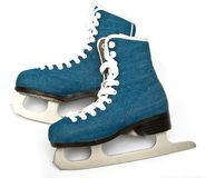Skates on white. Skates men shoes isolated on white background Stock Image