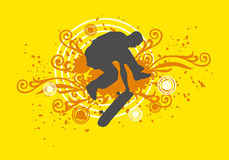 Skating. Illustration sport design of skating stock illustration