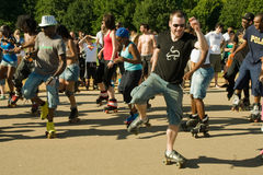 Skating Aerobic Demonstration Royalty Free Stock Photo