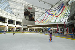 Skating arena at AFI Palace Cotroceni Mall, in Buc. The skating arena in AFI Palace Cotroceni Mall, in Bucharest, Romania. AFI Palace Bucharest Mega Mall is a royalty free stock images