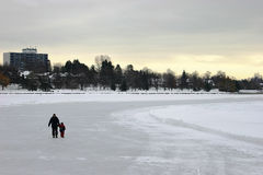 Skating on the Canal. This is the longest skating rink in the world in Ottawa, Canada Stock Images