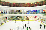 Skating club. Interior of  Moer city in Wuhan city of China,Sep 12,2012 Stock Images