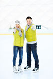 Skating couple Royalty Free Stock Image