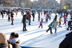 Skating crowd Royalty Free Stock Photos