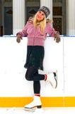 Skating girl royalty free stock image