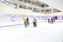 Skating on Ice Stock Images