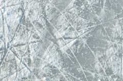 Skating ice  ring texture. Covered with snow Royalty Free Stock Images