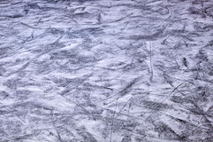 Skating ice rink. With skate marks Stock Image