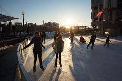 Skating in the Late Afternoon Stock Image