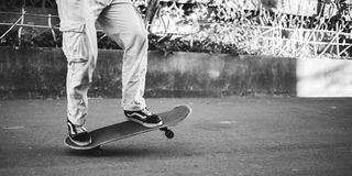 Skating is life. stock photography