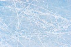 Skating marks. On an ice skating rink Royalty Free Stock Image