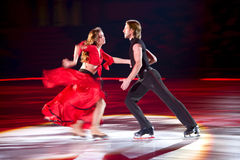 Skating pair Margarita Drobiazko & Povilas Vanagas Stock Photo