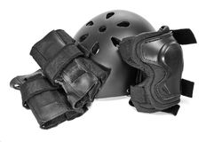 Skating protection equipment Stock Photos