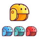 Skating and Rafting Helmets Icons stock illustration