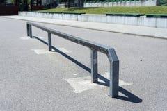Skating rail on skatepark Stock Photo