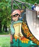 skating-ramp-grafitti Royalty Free Stock Image