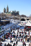 Skating on Rideau Canal Royalty Free Stock Image