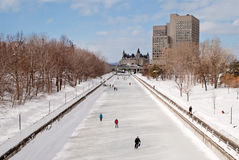 Skating on the Rideau Canal Royalty Free Stock Images