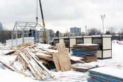 Skating rink dismantling in Gorky Park Stock Image