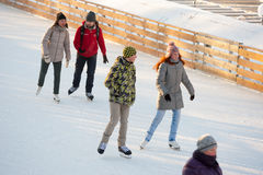 Skating rink in Gorky Park Stock Images