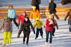 Skating rink in Gorky Park Stock Photography