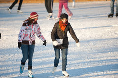 Skating rink in Gorky Park Royalty Free Stock Photography