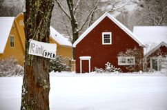 The skating rink is open in NH Stock Images