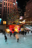 The Skating Rink in Rockefeller Center at Christmas Stock Photography