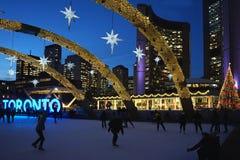 Skating rink at Toronto City Hall Royalty Free Stock Images
