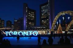 Skating rink at Toronto City Hall Stock Photography