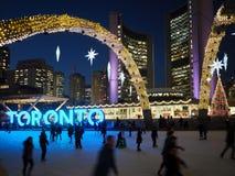 Skating rink at Toronto City Hall Royalty Free Stock Image