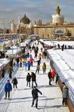Skating rink at VDNKH park in Moscow.