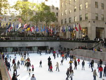 Skating at Rockefeller Center Stock Photography