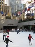 Skating at Rockefeller Center Stock Photo