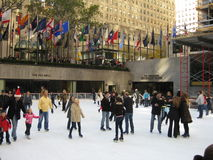 Skating at Rockefeller Center Royalty Free Stock Photo