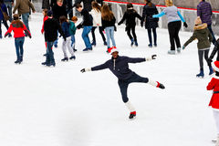 Skating in Rockefeller Center Stock Photos
