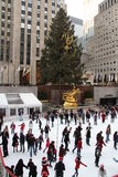 Skating at Rockefeller Center royalty free stock image