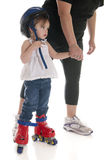 Skating's Scary, Mommy Stock Photography