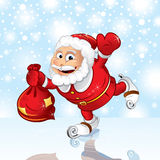 Skating Santa Royalty Free Stock Photography