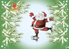 Skating Santa Claus Stock Photos
