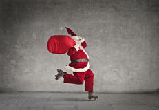 A skating Santa Claus Royalty Free Stock Photography