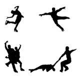 Skating silhouettes Stock Photo