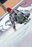 Skating with a skateboard Stock Photos