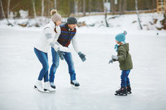 Skating together Stock Photography